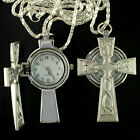 1pc Top Sale Nice Gift New Classic Cross Shape Necklace Watch Pendant, A4