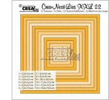Crealies STITCH Single Row Die  Set No.22 SQUARE Cutting Dies XXL22