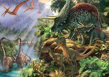 NUOVO! Falcon De Luxe VALLE DEI DINOSAURI 1000 pezzi Dinosauri Puzzle