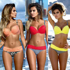 Sexy Women Bandage Bikini Set Push-up Padded Bra Swimsuit Bathing Suit Swimwear