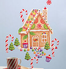 Wallies GINGERBREAD HOUSE wall stickers 122 sweet decals holiday decor candy