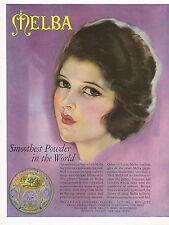 1920's BIG Vintage Melba Fleurs Face Powder Cosmetics Roy Best Lady Art Print Ad