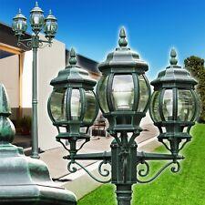 Kandelaber Wege Lampe Garten Aussen Steh Leuchte Stehlampe Laterne schwarz-grün
