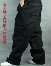 Men's Cargo Pants Jeans Hip Hop Loose Elastic Buckle Military Trousers Plus Size