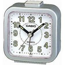 Casio TQ141 Mini Beep Analogue Bed Alarm Clock Silver