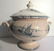 soupière jouet de poupée, dinette, Napoléon III, Lunéville ou Choisy Bord de Mer
