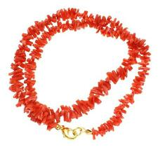 GENUINE NATURAL (NOT ENHANCED) RED CORAL GRADUATED STRAND NECKLACE 18 1/2""