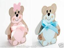 Luxury Baby Christening Boxes DIY Teddy Shower Girls Boys Wedding Favour Gift