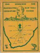 South Africa  - 1949 Springbok Rugby Trials Souvenir Rugby Booklet