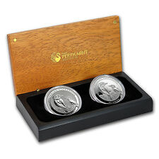 2017 Australia Silver Proof/BU Kookaburra 2-Coin Set - SKU #132695