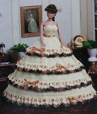 Crochet Pattern Only ~ Barbie's Strapless Serenade Ball Gown ~ Ruffled