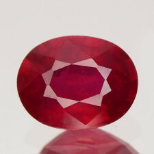 Only! $19.99/1pc 8x6MM Oval 100%Natural Deep Pigeon Blood Red RUBY GEM