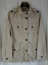 M&S Pure Cotton Military Jacket, Stone Colour, Size 8, Was £45, BNWT