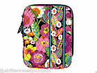 "VERA BRADLEY~QUILTED L-ZIP TABLET SLEEVE~VA VA BLOOM~PADDED~8"" X 10 & 1/4""~BNWT!"