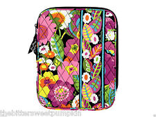 VERA BRADLEY~QUILTED L-ZIP E-READER SLEEVE~VA VA BLOOM~FITS I-PAD MINI-ETC~BNWT!