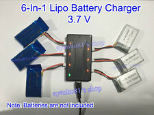 3.7V Lipo Battery Charger 1 to 6 For Hubsan H107 Syma X5C UDI U818 MJX X400 F180