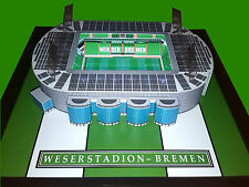 WERDER BREMEN WESERSTADION HANDMADE MODEL STADIUM WITH WORKING FLOODLIGHTS