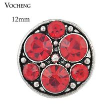 Vocheng Small 12mm Snap 5 Colors Crystal  Interchangeable Metal Button Vn-485