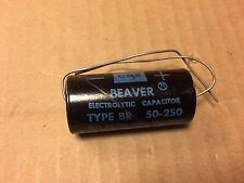 NOS Vintage Cornell Dubilier Beaver 50 uf 250v Capacitor Axial Tube Amp Cap