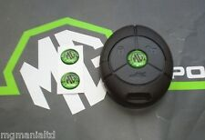 MGZR MG ZR Pair 2 or 3 Button Remote Fob Badge Inserts Xpower Green