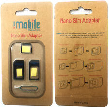 Genuine Imobile 4 in 1 Nano to Micro & Standard Mobile Phones Sim Card Adapter B