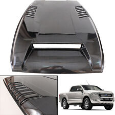 Black Kevlar Hood Scoop Bonnet Cover Trim Vent Fit 2015+ Ford Ranger T6 Facelift