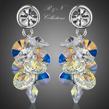 Platinum Plated Gradual Change SWAROVSKI ELEMENTS Austrian Crystal Earrings