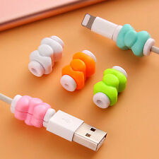 10PCS Cute USB Charging Cable Earphone Cord Protector Saver For iphone iPad