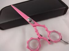 "5.5""Professional Hair Cutting Scissors Barber Shears Hairdressing Salon Pink"