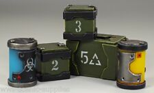 War World Sci-fi Barrels & Crates, Suitable for Infinity, Warlord and Warhammer