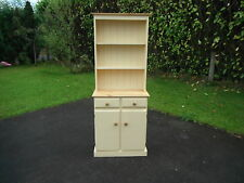 NEW SMALL SOLID PINE WELSH DRESSER NOT SHABBY CHIC FARROW AND BALL DORSET CREAM.