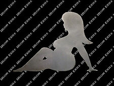 Thick Trucker Lady ST02 Girl Mudflap Nude Naked Sexy Hot Rat Rod Motorcycle LH