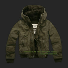 Abercrombie & Fitch faux fur lined Harrison Jacket hoodie NWT authentic item