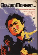 NORTH KOREA MOVIE - UNTIL TOMORROW * RARE EAST GERMAN ART POSTER 1959!