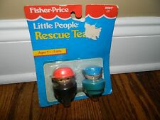 1990 Fisher-Price Chunky Little People Rescue Team Police Fireman #2387