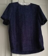 Reiss Indigo Blue Fluffy Top, Size 6, RRP £89, Worn Once