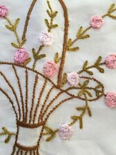 Vintage Embroidered Nightdress Cases, Boudoir Cushion Cover