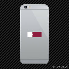 Qatari Flag Cell Phone Sticker Mobile Qatar QAT QA