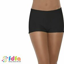 BLACK SEXY LYCRA HOT PANTS SHORTS KNICKERS ladies accessory womens hosiery