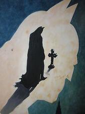 BATMAN 28x16 Pittura ad Olio Telaio avail.batman DARK KNIGHT minifig JOKER GOTHAM