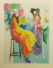 """ISAAC MAIMON """"LES COQUETTES II"""" 1994   HAND SIGNED PRINT   MORE AVAIL @ GALLART"""