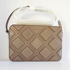 NWT Michael Kors Diamond Grommet Jet Set Travel Large EW Crossbody Bag ~ Cinder