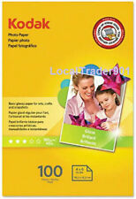 KODAK PHOTO PAPER GLOSS 100 SHEETS 4x6 Lexmark Dell Epson HP Canon 48 lb