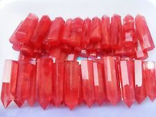 1lb TOP!!! AAAA++++ Red SMELT QUARTZ CRYSTAL WAND POINT HEALING 8-10pcs 70-85mm