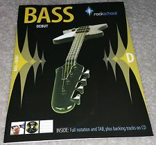 Rockschool Bass - Debut (2006-2012). Bass Guitar Sheet Music W/CD NEW