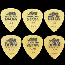6 Dunlop Ultex Sharp Guitar Picks - 1 Of Each Size