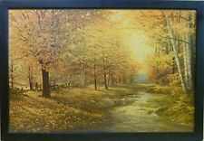 Classic Autumn Leaves by Robert Wood 36x24 Landscape Print/Litho of Painting Art