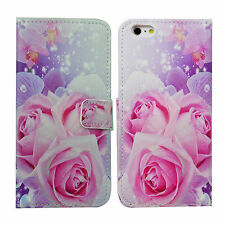 Pretty Flower Phone Holster Flip Leather Cover Case For Apple iPhone 6 Plus 5.5""
