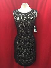 """CHETTA B DRESS/BLACK LACE DRESS/NEW WITH TAG/RETAIL$129/SIZE 12/LENGTH 40""""/"""