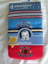 NWT baby boy 0-3 months Gerber onesies 4 pack sports Daddy's little slugger